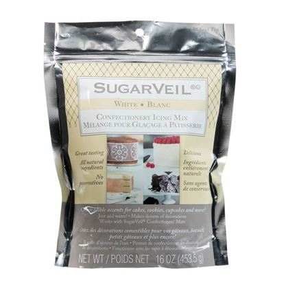 Picture of SugarVeil White Confectionery Icing 16 oz in Resealable Pouch